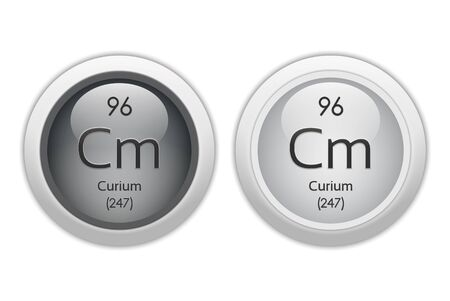 Curium - two glossy web buttons Stock Photo - 10469940