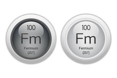 Fermium - two glossy web buttons Stock Photo - 10469938