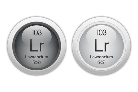 Lawrencium - two glossy web buttons Stock Photo - 10469935