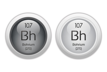Bohrium - two glossy web buttons Stock Photo - 10469945