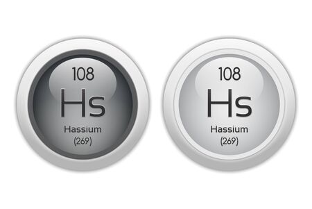 Hassium - two glossy web buttons Stock Photo - 10469944