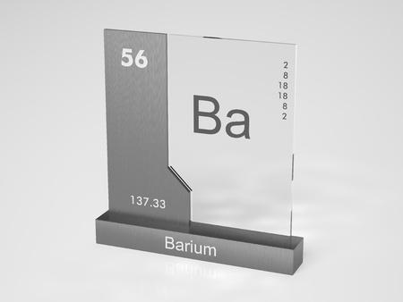 Barium - symbol Ba - chemical element of the pedic table Stock Photo - 10470019