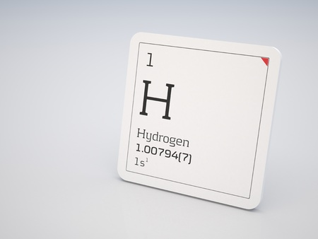 primordial: Hydrogen - element of the periodic table Stock Photo
