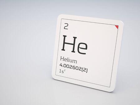 Helium - element of the periodic table photo