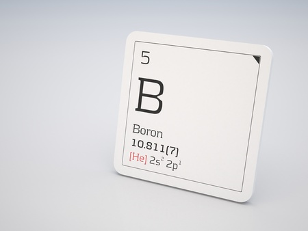 boron: Boron - element of the periodic table Stock Photo