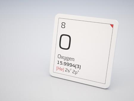 oxigeno: Oxígeno - elemento de la tabla periódica