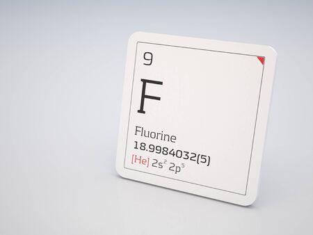 Fluorine - element of the periodic table Stock Photo - 10597543