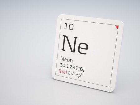 Neon - element of the periodic table photo