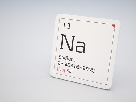 periodic: Sodium - element of the periodic table