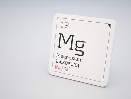 Magnesium - element of the periodic table  photo