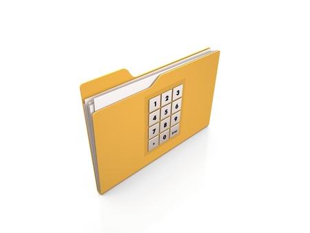 encrypted: Encrypted folder isolated on white background icon Stock Photo