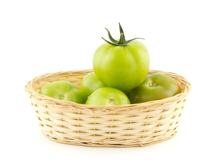Tomato Queen in basket - success concept photo