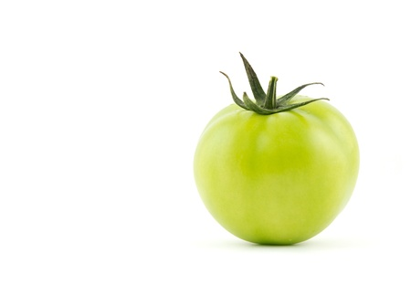Green tomato isolated on white background Imagens