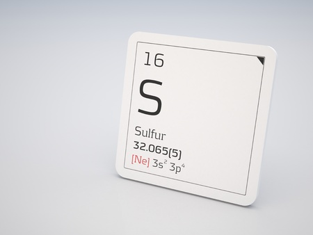 Sulfur - element of the periodic table photo