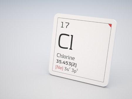 Chlorine - element of the periodic table photo