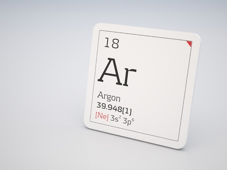 Argon - element of the periodic table Stock Photo - 10944384