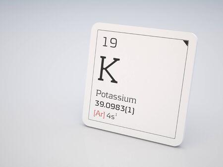 periodic element: Potassium - element of the periodic table