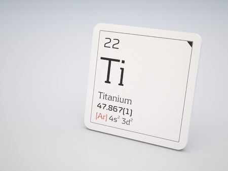 Titanium - element of the periodic table Stock Photo - 10944378