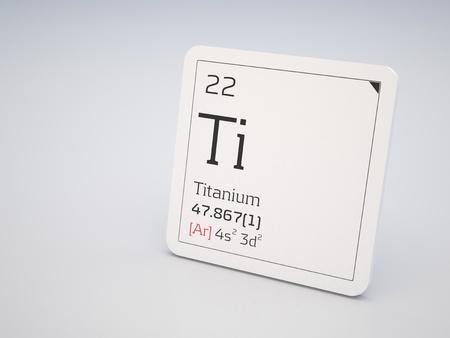 Titanium - element of the periodic table Stock Photo - 10944378
