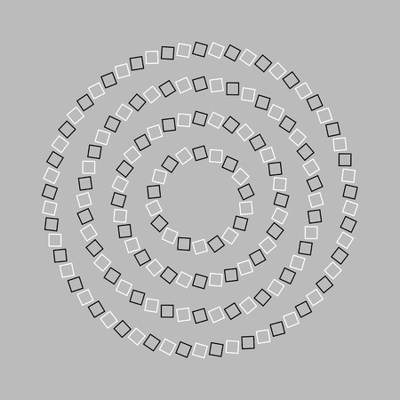 hallucination: Circle or spiral - Optical illusion simple geometry