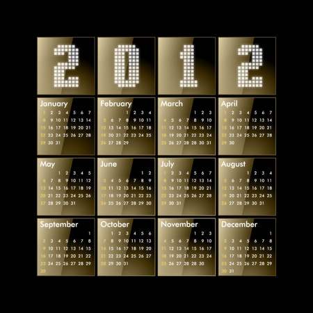 Calendar 2012 - gold glossy photo