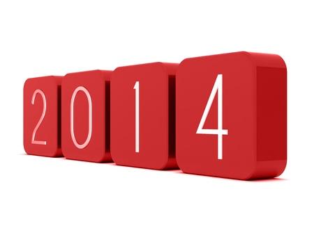 2014 Happy new year! Imagens