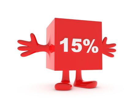 15: 15 Percent discount happy figure