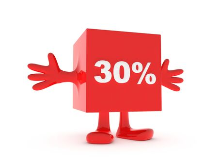 30 Percent discount happy figure Stock Photo - 11503356