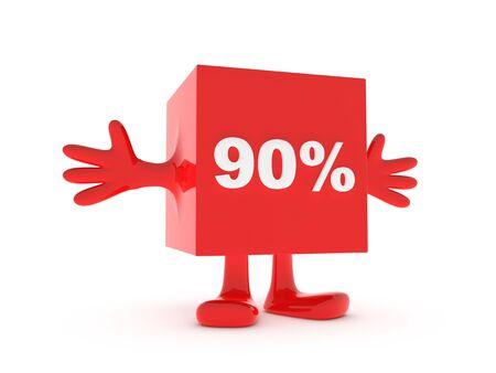 90: 90 Percent discount happy figure