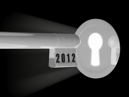 Open the door for the new year 2012 photo