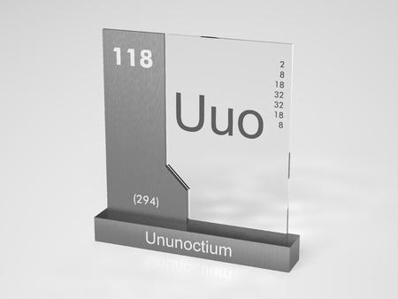 Ununoctium - symbol Uuo - chemical element of the periodic table photo