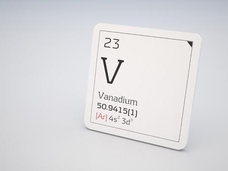 vanadium: Vanadium - element of the periodic table Stock Photo