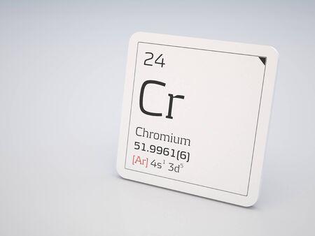 cr: Chromium - element of the periodic table