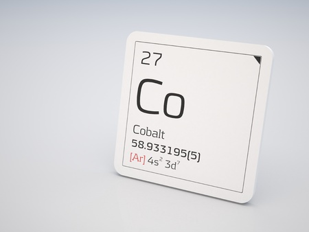 Cobalt - element of the periodic table photo