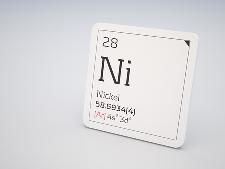 Nickel - element of the periodic table photo