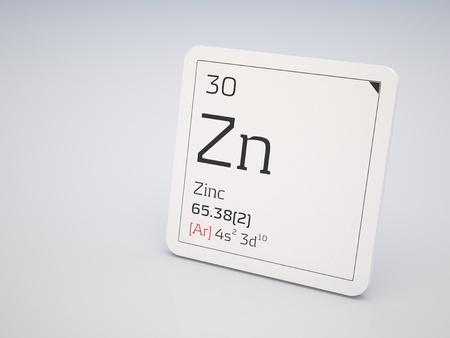 Zinc - element of the periodic table photo