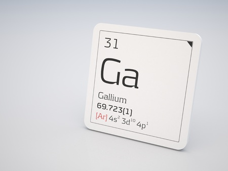 Gallium - element of the periodic table photo