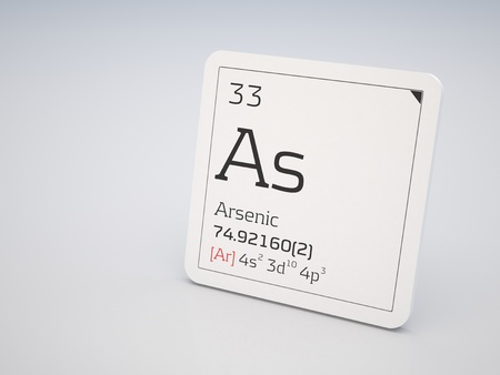 Arsenic - element of the periodic table Stock Photo - 11959187