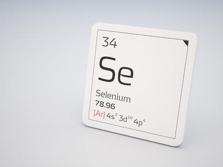 34: Selenium - element of the periodic table Stock Photo
