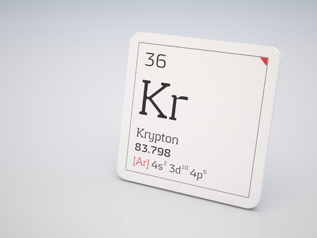 noble gas: Krypton - element of the periodic table