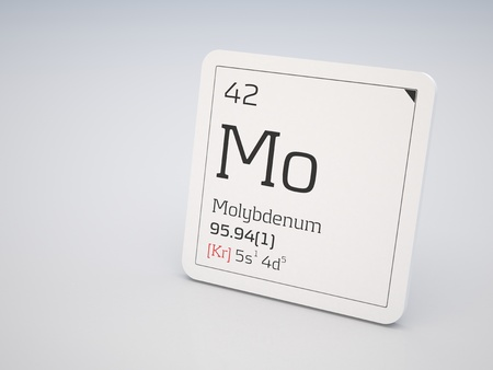 Molybdenum - element of the periodic table photo
