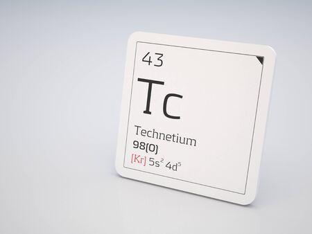 Technetium - element of the periodic table photo