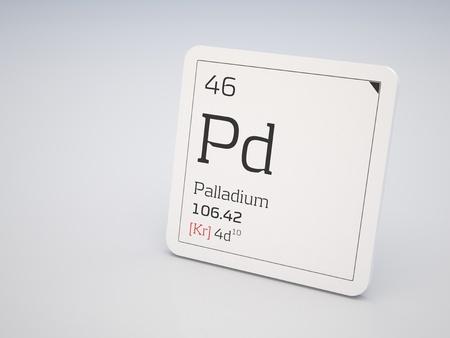 Palladium - element of the periodic table photo