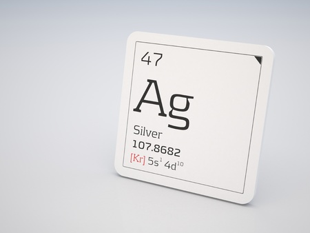 Silver - element of the periodic table photo