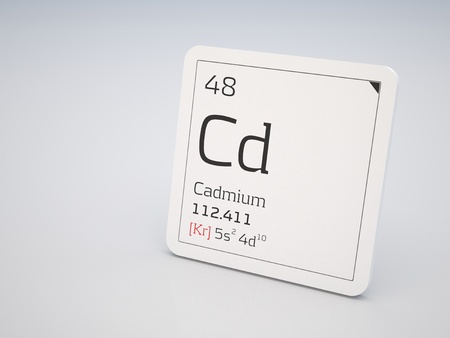 cadmium: Cadmium - element of the periodic table Stock Photo