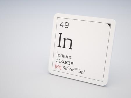 indium: Indium - element of the periodic table