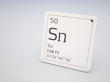 Tin - element of the periodic table photo