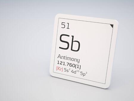antimony: Antimony - element of the periodic table Stock Photo
