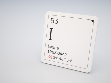 periodic table: Iodine - element of the periodic table