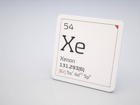 xenon: Xenon - element of the periodic table Stock Photo